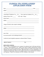 Florida TSA Scholarship Application Form