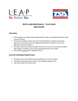 LEAP Leadership Resume Team Instructions Quick Guide