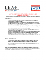 LEAP Competitive Event Judging Protocol