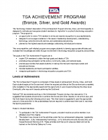 TSA Achievement Program – Bronze, Silver, & Gold Awards Packet