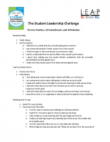 Student Leadership Challenge 5-Practices Program Overview
